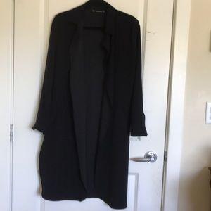 Black light trench coat